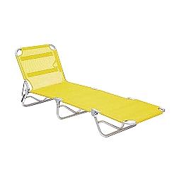 Comprar Cadeira Espreguiçadeira Textilene Alumínio - Amarelo-Bel Fix
