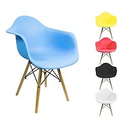 Comprar Cadeira Grande com Armação de Metal e Pés de Madeira-Tander Home
