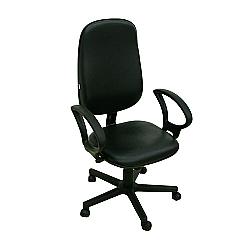 Comprar Cadeira presidente tecido, Relax com Bra�o Preto - FN11-Furniture