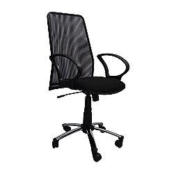 Comprar Cadeira Presidente Tela com Relax com Bra�o Preto - FN10-Furniture