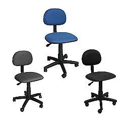 Comprar Cadeira Secretaria Girat�ria Tecido Pist�o a G�s - FN03-Furniture