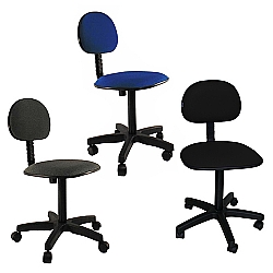 Comprar Cadeira Secretaria Girat�ria Tecido Pist�o Fixo - FN06-Furniture