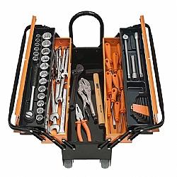 Comprar Caixa de ferramentas profissional com 65 peças e roda - CARGOBOX-Tramontina