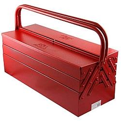 Comprar Caixa de Ferramenta Sanfonada, 5 Gavetas, Vermelho-Fercar