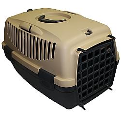 Comprar Caixa de Transporte para c�es e gatos - Italiana - Tam 1 - Creme e Cinza-American Pets