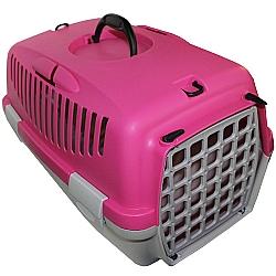 Comprar Caixa de Transporte para c�es e gatos - Italiana - Tam 1 - Rosa e Cinza-American Pets
