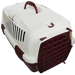 Comprar Caixa de Transporte para cães e gatos - Italiana - Tam 1 - Vinho e Bege-American Pets
