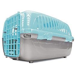 Comprar Caixa De Transporte Pl�stico Travel Pet Azul N�mero 2 - Para c�es e gatos-Agrodog
