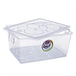 Comprar Caixa Organizadora Cristal com Trava 30L - Ordene-Ordene