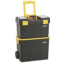 Comprar Caixa Plástica Organizadora Porta Ferramentas com Roda  - CRV 0300-Vonder