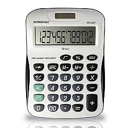 Comprar Calculadora de Mesa Bateria e solar com 12 Dígitos Grandes - PC257-Procalc