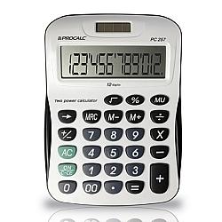 Comprar Calculadora de Mesa Bateria e solar com 12 D�gitos Grandes - PC257-Procalc