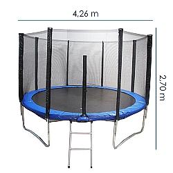 Comprar Cama El�stica com Escada e Rede 14 P�s - Di�metro 426 cm - THCE14PES-Tander Home