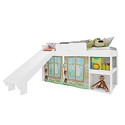 Comprar Cama Playgroud Branco com Escorregador-Art in Móveis