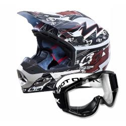 Comprar Capacete Cross Marrom + Óculos de proteção Preto 788 - Th1 Electric-Pro Tork