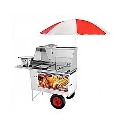 Comprar Carrinho Ambulante Mesa em Inox de Hot Dog Lanche Salgado-Armon