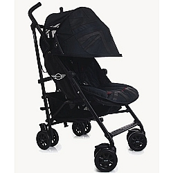Comprar Carrinho Mini Buggy Black Jack 4 Posi��es Reclin�veis Preto-Brasbaby