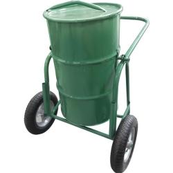Comprar Carro coleta de lixo 100 Litros com tampa, roda, pneu e camara 325x8 mm-Tander
