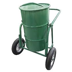 Comprar Carro coleta de lixo 100 Litros com tampa, roda, pneu e camara 325x8 mm-Carroleve