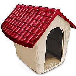 Comprar Casinha House para Cães Nº2 - Vinho-Plast Pet