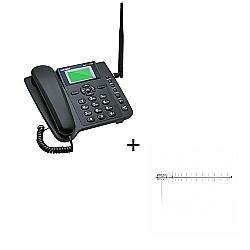 Comprar Celular De Mesa Quadriband 3g Dual Slim + Antena Celular 800mhz 17dbi com Cabo TF-Aquário