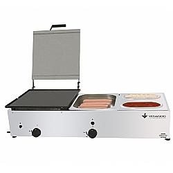 Comprar Chapa com Prensa e Molheira Kit Hot Dog P47M2-Venâncio