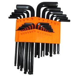 Comprar Chave allen jogo com 25 peças cromo vanádio abaulada-Lee Tools
