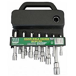 Comprar Chave Biela Vazada Jogo 14 Peças 6 a 22 (mm) - 672870-Lee Tools