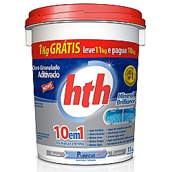 Comprar Cloro granulado aditivado 10 em 1 - 11 kg-HTH