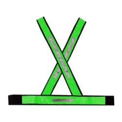 Comprar Colete X com refletivo verde-Plast Mg