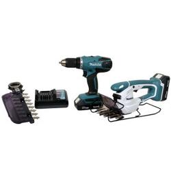 Comprar Combo de ferramentas com Parafusadeira/Furadeira e Tesoura para grama-Makita