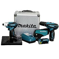Comprar Combo de Ferramentas, Bivolt, Parafusadeira/Furadeira de Impacto HP330D, Parafusadeira TD090D e Acessórios - DK1485X-Makita