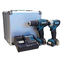 Comprar Combo de Ferramentas Parafusadeira HP331D - Furadeira de Impacto TD0110D - 2 Bateria Carregador Bivolt-Makita