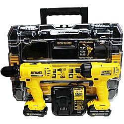 Comprar Combo Furadeira Parafusadeira 12v com baterias, carregador e maleta - DCK201C2BR-Dewalt