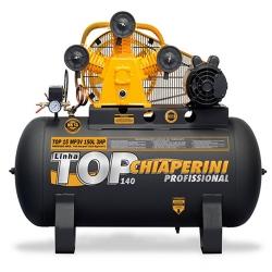 Comprar Compressor de Ar Monofásico 3Hp, 140 libras, 15 pés, 150 Litros - TOP15MP3V150LTM-Chiaperini