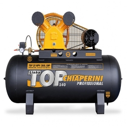 Comprar Compressor de Ar Trif�sico 5 hp 140 libras 20 p�s 200 Litros - TOP20MPV200LTT-Chiaperini