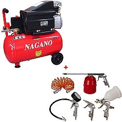 Comprar Compressor de Ar 2 Hp, 24 Litros, 220v com Kit de Acessórios - NCA24L2HP-Nagano