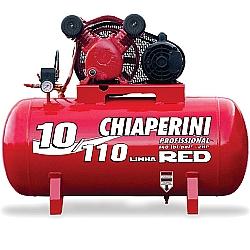 Comprar Compressor de Ar Aberto, 110 Litros, 2 HP, 1,5kW, Monof�sico - 10/110 Red-Chiaperini