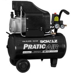 Comprar Compressor de Ar baixa pressão 8,2 pés 22 Litros Monofásico - CSA8,2/25 - PRATIC AIR-Schulz