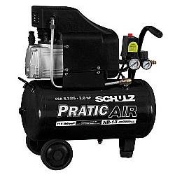 Comprar Compressor de ar baixa pressão 8,2 pés 25 litros monofásico - CSA8,2/25 - PRATIC AIR 110v-Schulz