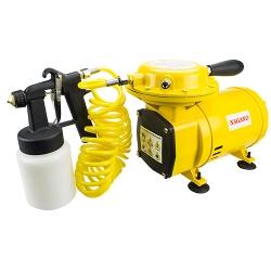 Comprar Compressor de Ar Direto 1/2HP 3.5BAR 50PSI 128-135 L/min 110/220 Volts ACOMPANHA KIT PINTURA (PISTOLA,CANECA,BICO)-Nagano