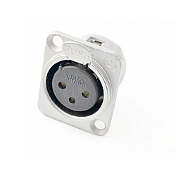 Comprar Conector Plug Xlr Canon Fêmea De Painel P3fnn01-Santo Angelo