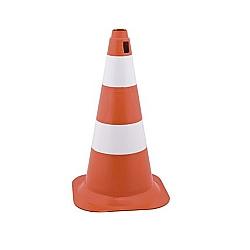Comprar Cone de sinalização altura de 75 cm - 2 faixas branco e laranja-Vonder