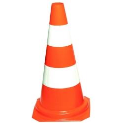 Comprar Cone de sinaliza��o laranja e branco de 50 cm-Plastcor