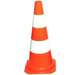 Comprar Cone de sinalização laranja e branco de 75 cm-Plastcor