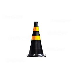 Comprar Cone de sinalização preto e amarelo de 75 cm-Plastcor