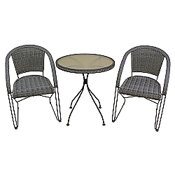 Comprar Conjunto Aço Lisboa Mesa e 2 Cadeiras - 9142-MOR