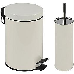 Comprar Conjunto Agata - Lixeira 3l E Escova Para Higienização De Vaso Bege 8334-MOR