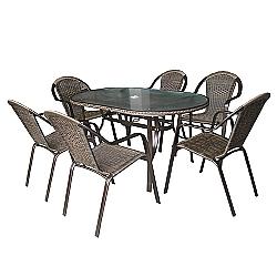 Comprar Conjunto Alumínio Kalahari Mesa e 6 Cadeiras - 9143-MOR