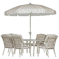 Comprar Conjunto Bali 8 Pe�as - Cadeira, Mesa, Guarda-Sol-MOR